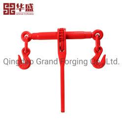 Caída de Hardware de rigging para trabajo pesado del tensor de cadena de acero forjado de amarre de carga tipo trinquete accesorio rojo el cuaderno de carga con ganchos