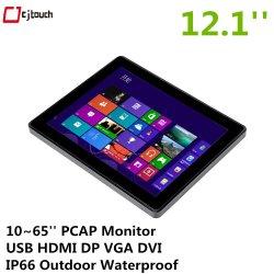 Cjtouch 12.1pouces écran tactile multipoint TFT LCD moniteur infrarouge LED Advetising Displayer Kiosque USB HDMI