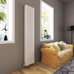 De witte Moderne Horizontale Centrale verwarming van de Radiator van de Ontwerper van de Radiator van de Kolom Dubbele Ovale