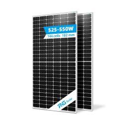 Sonnensystem halb geschnitten Solarmodul 530W 540W 550W Mbb Solarzelle Mono Solarmodul
