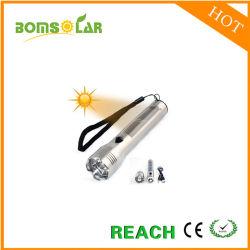 Forte torcia elettrica solare di alluminio luminosa eccellente 1W
