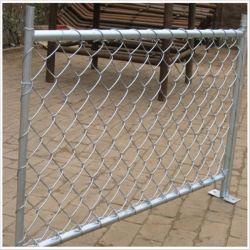 Оцинкованный или ПВХ покрытие временного строительства звено цепи ограждения