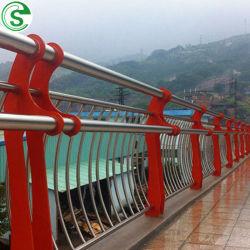 Acero inoxidable tubo compuesto barandilla del puente peatonal
