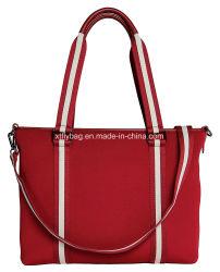 方法女性Red Neoprene Shoulder Messengerラップトップ袋のノートのトートバック
