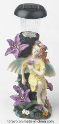 Lampe Solaire de Jardin Poly-Resin Fairy pour la décoration (RS6006)