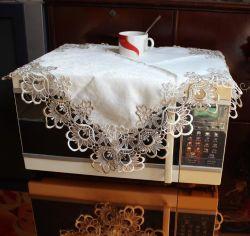 Элегантный из жаккардовой ткани с вышитым скатерть, микроволновая печь, стиральная машина холодильник крышку Скатерть