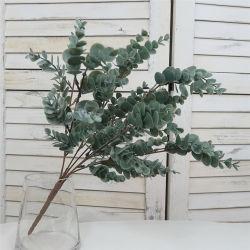 De kunstmatige Eucalyptus plant het Echte Blad van de Eucalyptus van de Stammen van de Bloem van het Gras van de Aanraking Plastic Kunstmatige
