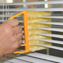 Mini Limpiador de ciegas persianas Ventana Cepillo Cepillo de la hoja ciega