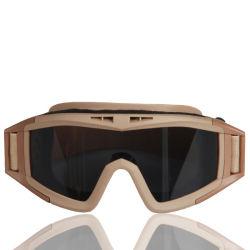 السلامة ضد الضباب النظارة العسكرية المضادة للرمال، يملّهبGooggles 3 نظارات الجيش ذات العدسات القابلة للتغيير للتصوير التكتيكي