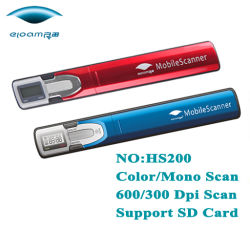 Mini USB Stick cor caneta Scanner ,Deslize Digitalizar foto (HS200)