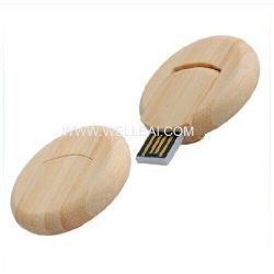 Pleine forme ronde Capactiy USB en bois