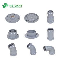 Стандарт DIN пластиковый трубный фитинг резинового уплотнительного кольца из ПВХ трубы фитинг