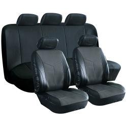 Conjunto completo de cuero funda de asiento de coche universal la tapa del asiento de coche