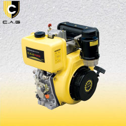 6HP/9HP/10HP/12HP/15HP à petit refroidi par air unique cylindre moteur Diesel (178F 186FA 192F)