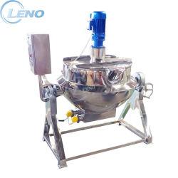 Leno RVS kantelende scraper Aitator Pot Food Industry Mixer Kookgas stoom Elektrische verwarming mengen Kettle Industrieel fornuis met mantel Waterkoker van het jack