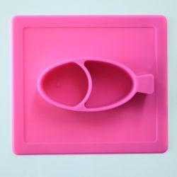 Neue Entwurfs-Baby-Silikon-Matte mit Abendessen-Filterglocke-Set