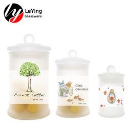 Fabrik-verzieren preiswertes Preis-Geschenk mini luftdichte Karosserie scheuern bereiftes Glas-Vorratsbehälter-Gläser mit Kappe