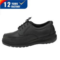 CE-goedgekeurd glad Napa Leather Steel Teen Executive Man Fashion Veiligheidsschoenen voor vrijetijdswerk