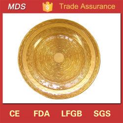 Parte estriada de alta calidad de la placa de cargador de cristales dorados para la alimentación