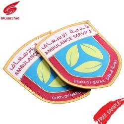 Comercio al por mayor barato Hat parche tejido emblema de la escuela y el Taekwondo emblema uniforme