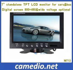 """7 """" 2つのビデオ入力が付いているスタンドアロン車TFT LCDのモニタ"""