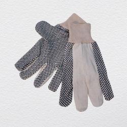 Просверлите хлопка работы рукавицы с ПВХ точек (2203)