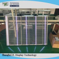 Светодиодный дисплей из прозрачного стекла-P6.25мм для использования внутри помещений полноцветный светодиодный экран ячеистой сети