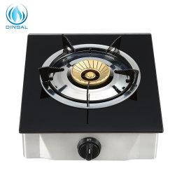 vidro temperado queimador único Top 100mm fogão a gás da tampa do queimador de latão (DS-GSG102)