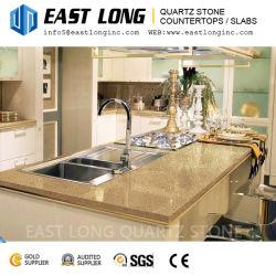 Commerce de gros grains mousseux artificielle de couleur beige Quartz Stone pour Engineered