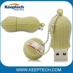 昇進のサービス品のために最もよい一義的なデザインピーナツ形USBのフラッシュ駆動機構