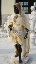 Classic Mármol Piedra Onyx árabe figura estatua con cara negra (SY-C1162)