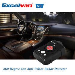 16 band Detector van de Radar van de Laser van de Waarschuwing van de Stem van de Snelheid van de Vrachtwagenchauffeur van de Auto van 360 Graad de Waakzame V8