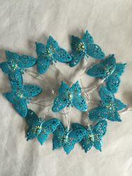 Farfalla chiara della decorazione di serie LED della molla