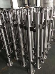 Scale a spirale di legno di vetro delle scale a spirale dell'acciaio inossidabile