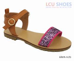 Womens ouvrir la sangle de cheville Glitter Toe Gladiator Sandals