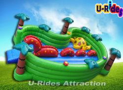 Parque Infantil Dinossauro Jumping Combo inflável brinquedos infláveis para quintal