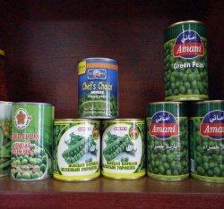 新しい穀物の優秀な品質によって缶詰にされるグリーンピース