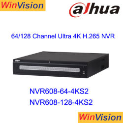 NVR608-64-4ks2 オリジナル Dahua ブランド 64ch 8HDD Stat 4K 2U H.265 CCTV スタンドアロン DVR 監視 NVR セキュリティネットワークデジタルビデオレコーダー