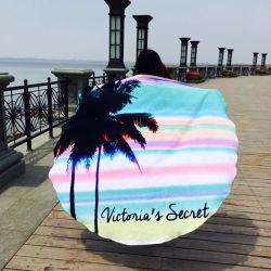 Оптовая торговля поощрения Custom песок свободной печати 100% силы из чистого хлопка абсорбирующий Быстрый сухой тканью банными полотенцами на пляже полотенце