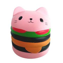 Hamburger Cat Squishies perfume suave PU Subida Lenta Squishy Brinquedos