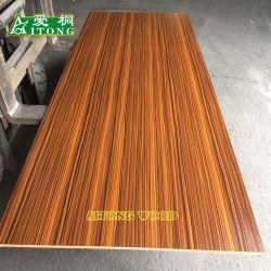 木カラーまたは大理石カラーか単一カラーはMDFに直面した