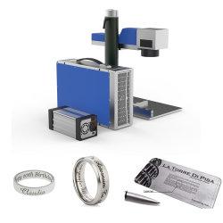 20W/30W/50W Raycus Fonte Laser Fibra portátil marcação a laser máquina de gravura de ligas de metais