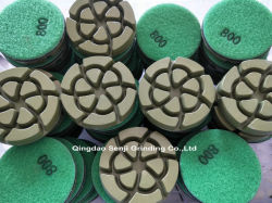 研摩のダイヤモンドの具体的な床の磨くパッド
