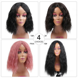 لاس بوبو كوزPlay الصناعية الشعر الوردي اللون 14 بوصة امتداد الموجة الطبيعية المستقيمة Yaki للنساء