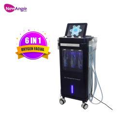 Sauerstoffeinspritzung Jet Peel Gesichtsverjüngung 2021 Neu Eingetroffen Whitening Ultraschall Beauty Machine RF Haut für SPA Salon