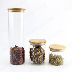タケふたの台所小麦粉の砂糖のコーヒー茶小さなかんセットが付いている透過ガラス記憶の瓶