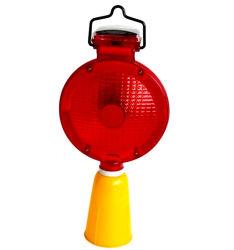 태양 강화된 LED 도로 안전 위험 소통량 번쩍이는 경고등
