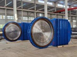 تصنيع المعدات الأصلية (OEM) محرك كهربائي ذو حجم كبير للتحكم في الفولاذ الكربوني صمام بوابة الكاشطة الفولاذية