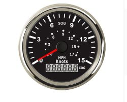 "85мм лодки GPS спидометр манометр 15 узлов 0-17миль за 3-3/8"""" (85мм) 9-32V"