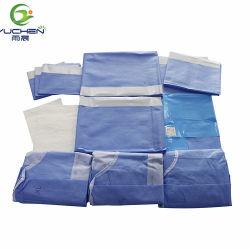 Pack chirurgicaux stériles à usage unique de tentures incise/laparotomie drapé /incision transverse Pack en plastique pour usage médical